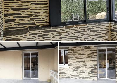 décoration murs intérieurs d'une véranda