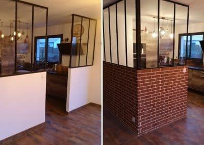Avant et après enduit décoratif imitation brique