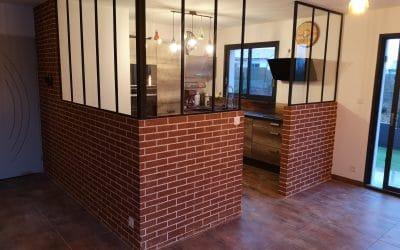 Décoration intérieure imitation briques