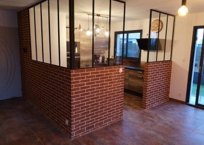 enduit décoratif briques style loft pour verrière