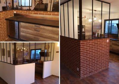 Décoration intérieure imitation brique style loft