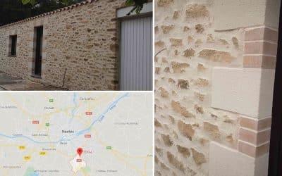 Décoration extérieure imitation pierres aux Sorinières