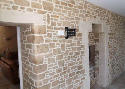 enduits décoratifs imitation pierre Cholet