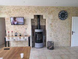 rénovation intérieure avec enduits décoratifs imitation pierres