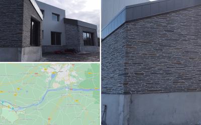 Façade imitation pierres extérieur à Chalonne-sur-Loire 49