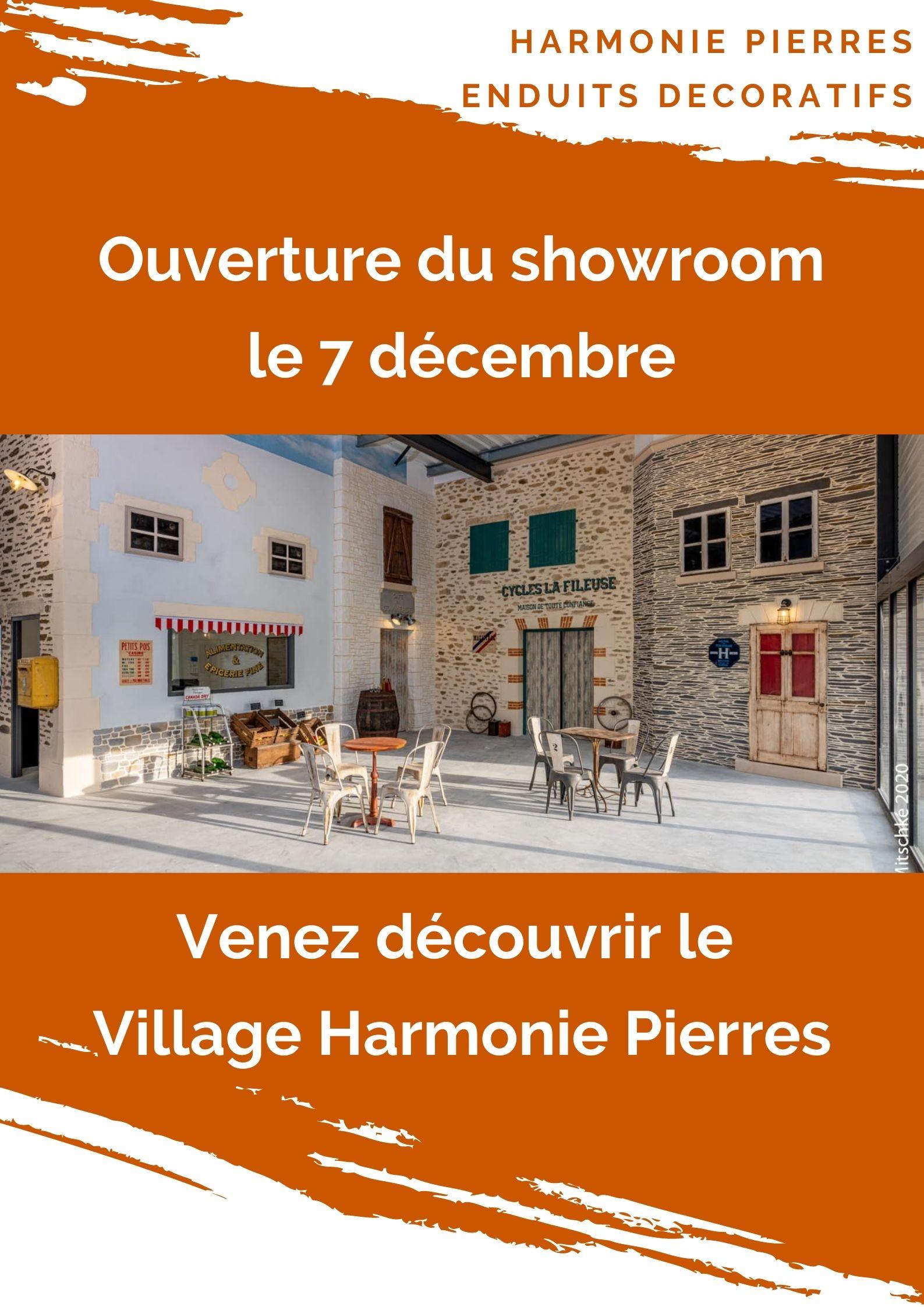 Ouverture showroom enduits imitation pierres à Cholet