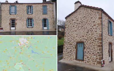 Façade imitation pierres Saint Laurent sur Sèvre en Vendée 85